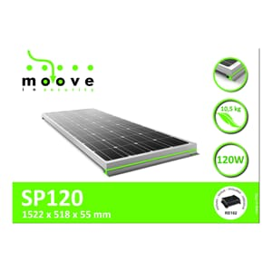 Solcellepanel 120 W MOOVE inkl regulator