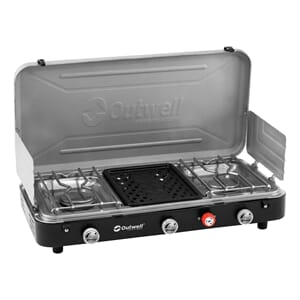 Kokeapparat og grill 2-bluss + grill Outwell Chef Cooker 3