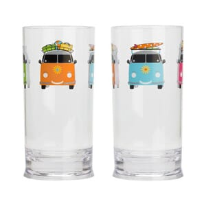Glass tumbler Camper Smiles 2 pk. 48 cl Flamefield