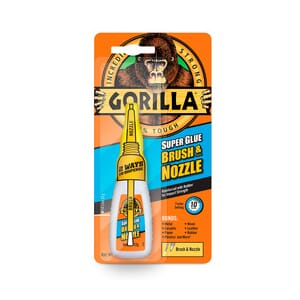 Gorilla Superlim 12 gr Brush and Nozzle